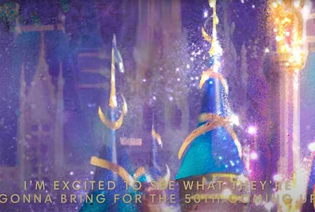 Walt Disney World 50th Anniversary Celebration Castle and Spaceship Earth teaser