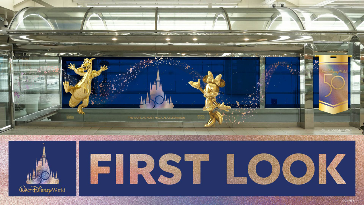 Walt Disney World 50th anniversary touches coming to Orlando International Airport along with new Magic of Disney store location