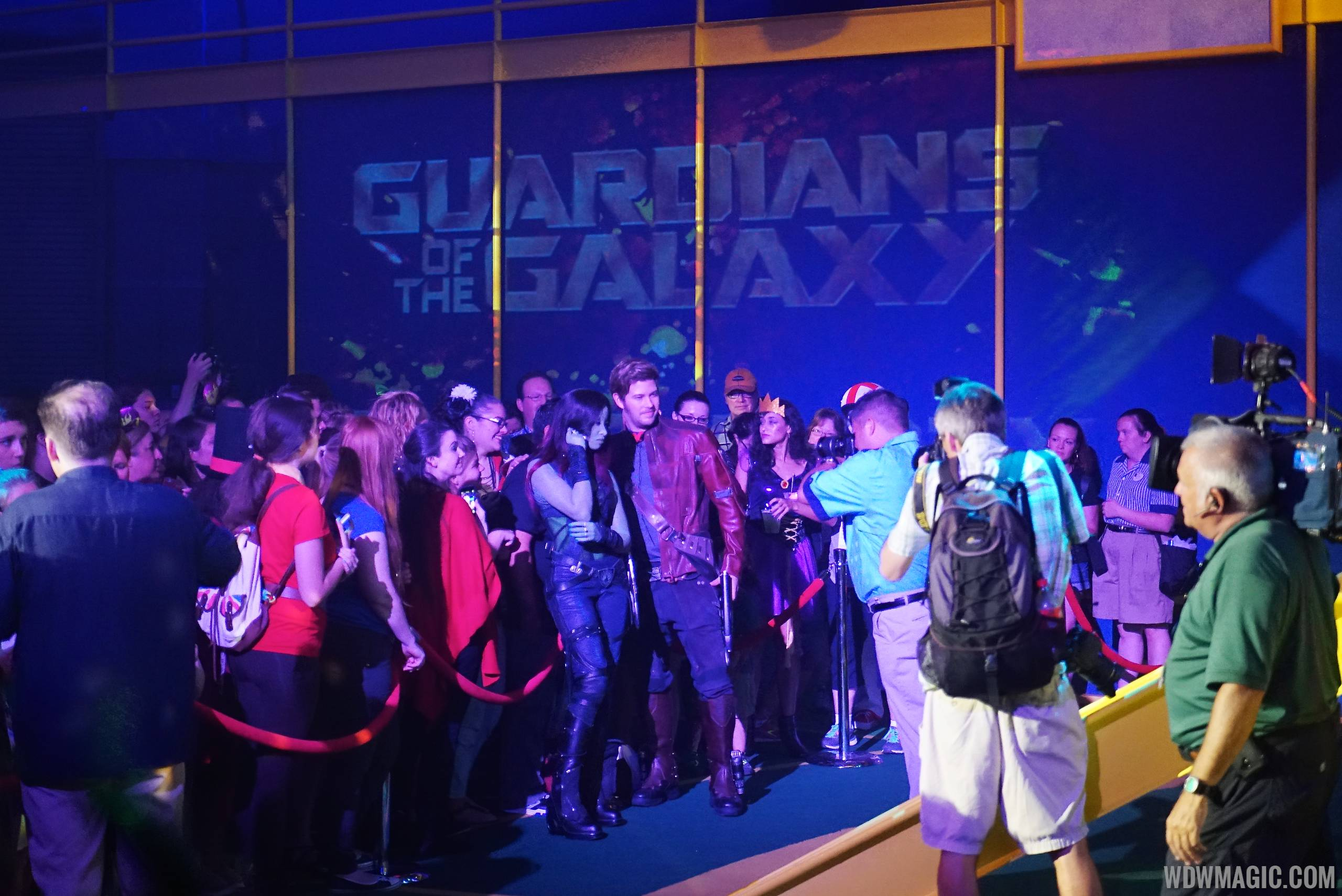 Guardians of the galaxy vol 2 meet and greet now open at disneys star lord meets guests at the villains unleashed event at disneys hollywood studios m4hsunfo