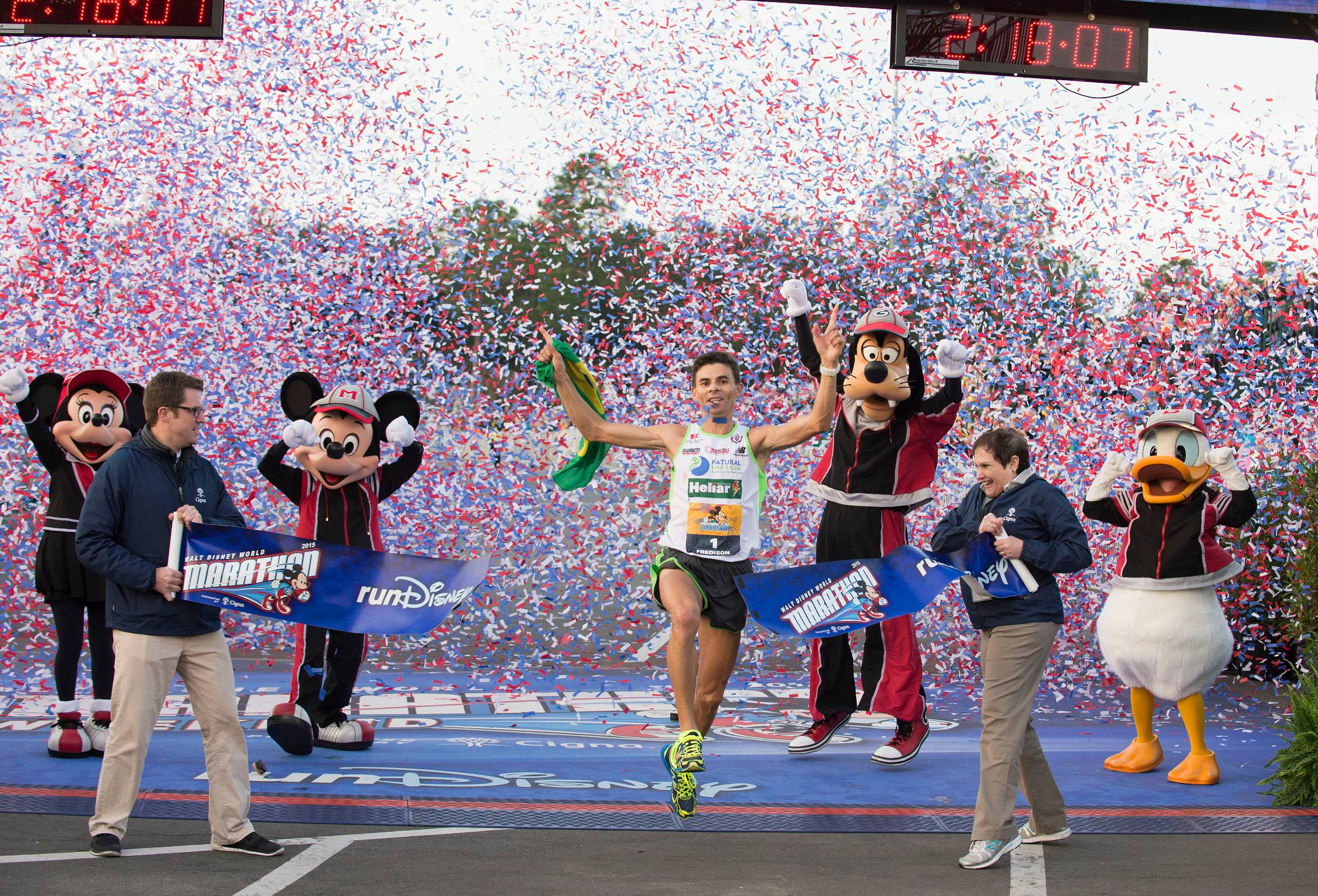 Fredison Costa winner of the 2015 Walt Disney World Marathon
