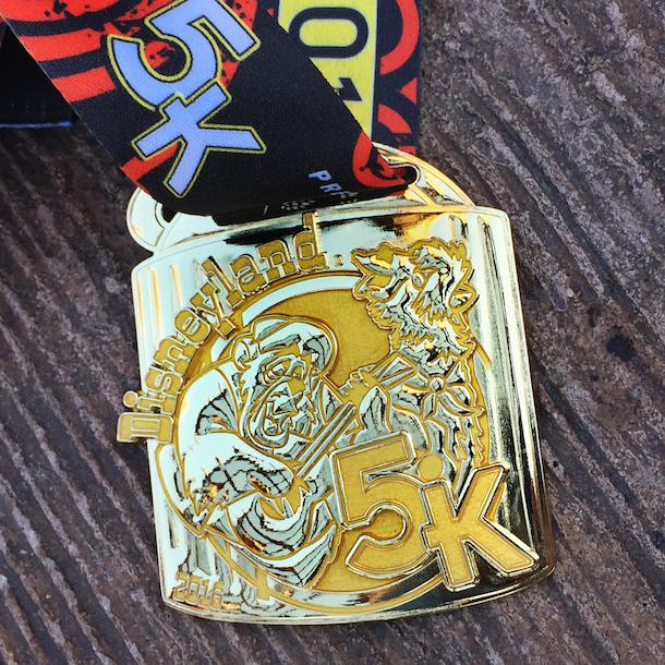 Disneyland 5K metal medal