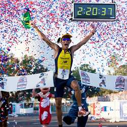 Brazil's Adriano Bastos wins his sixth Disney Marathon