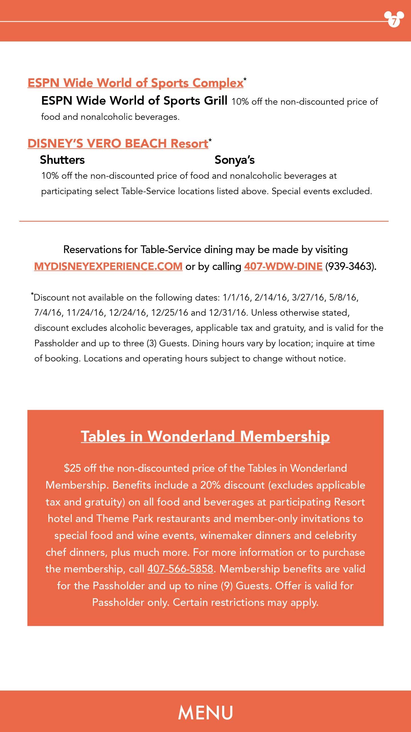 2016 Passholder Benefits Guide
