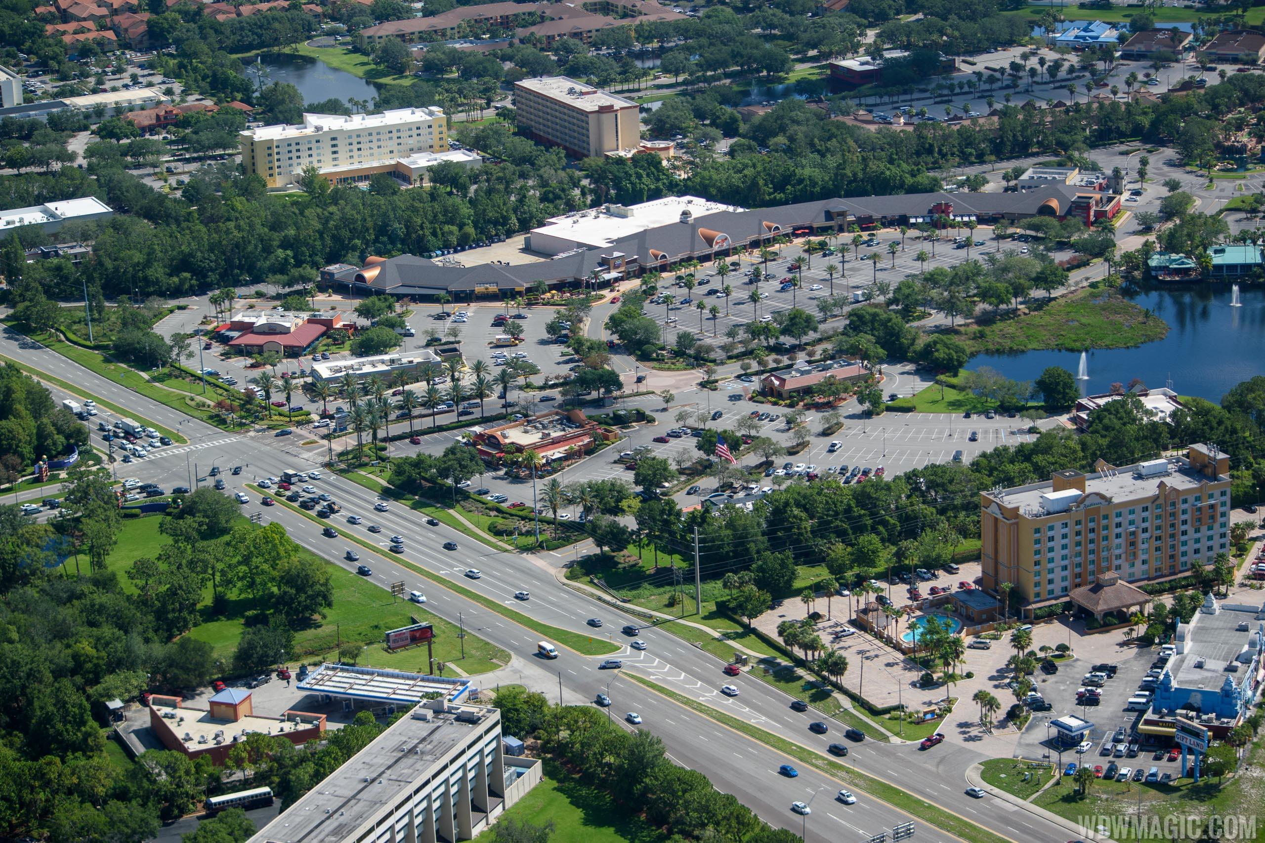 Crossroads aerial views