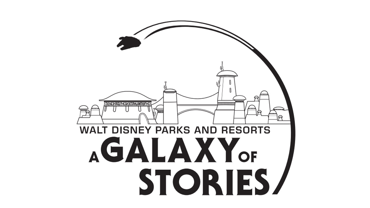 Walt Disney Parks and Resorts: A Galaxy of Stories logo
