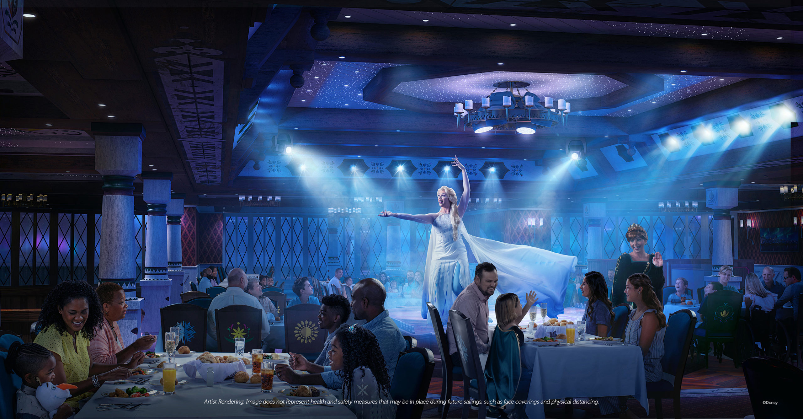 Disney Wish – Family Dining – Arendelle A Frozen Dining Adventure