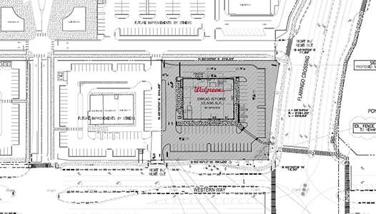 PHOTO - Permits filed for Walgreens at Flamingo Crossing