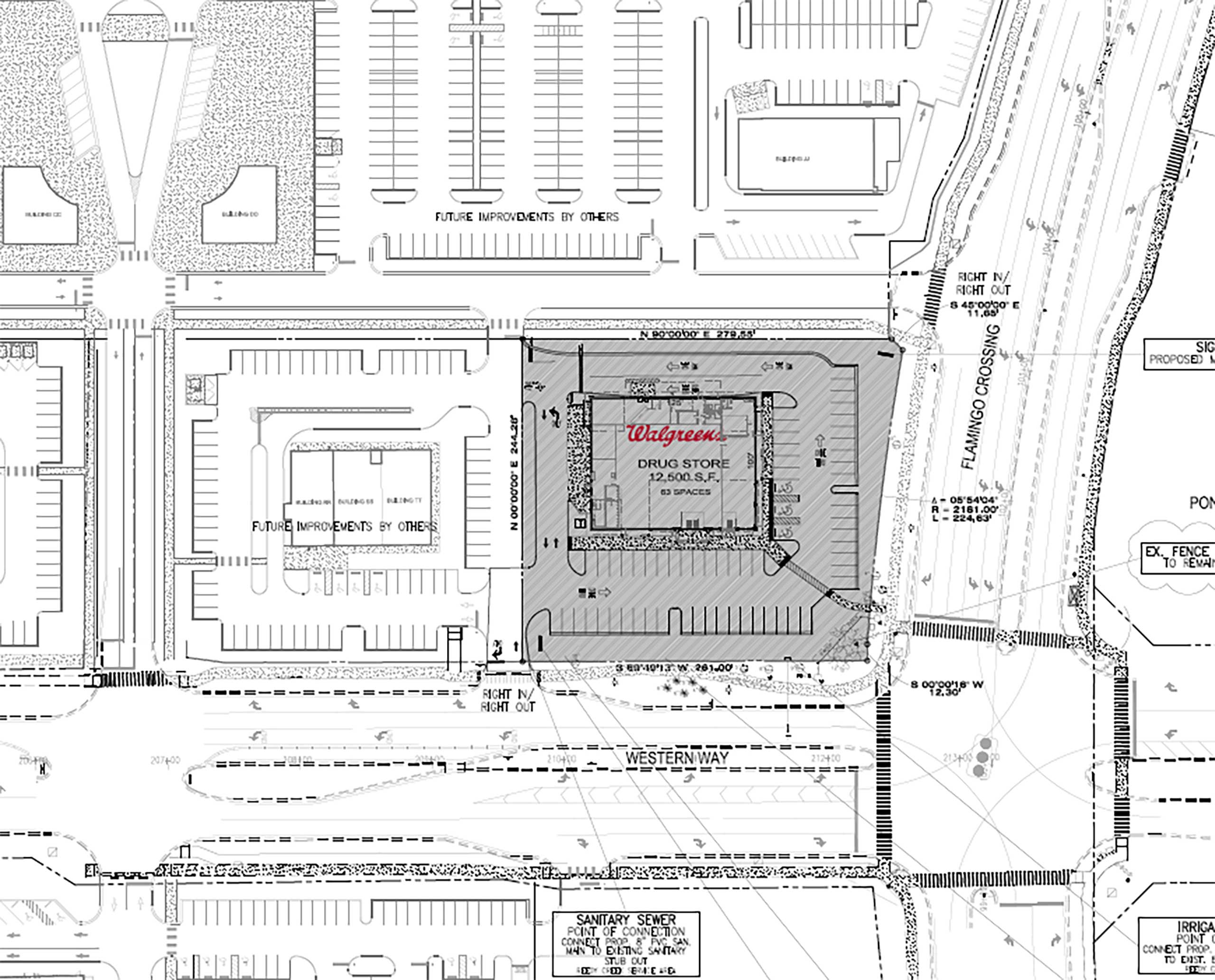 Walgreens permit for Flamingo Crossings