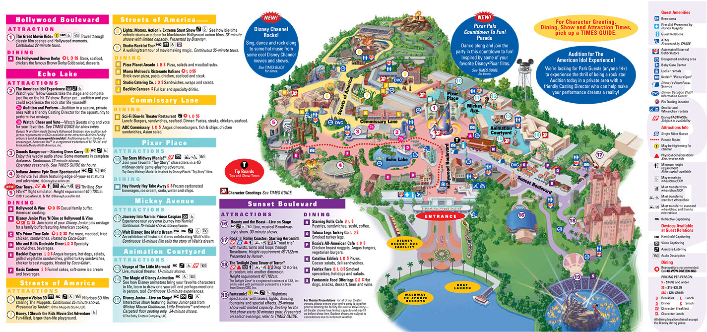 Walt Disney World Resort 2011 Park Guide Maps
