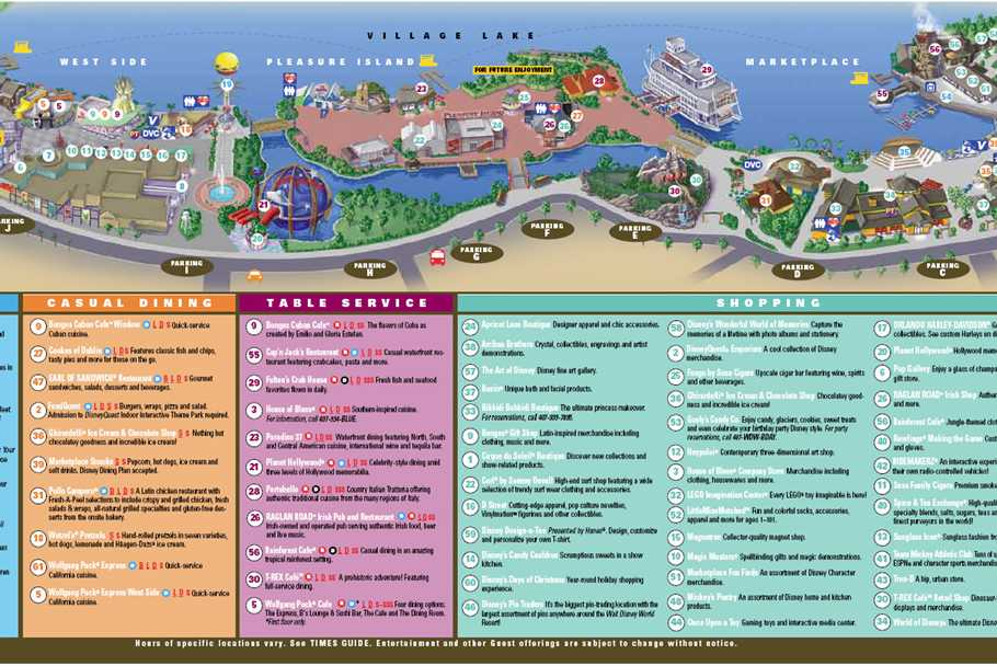 Walt disney world park and resort maps photos downtown disney map september 2011 gumiabroncs Image collections