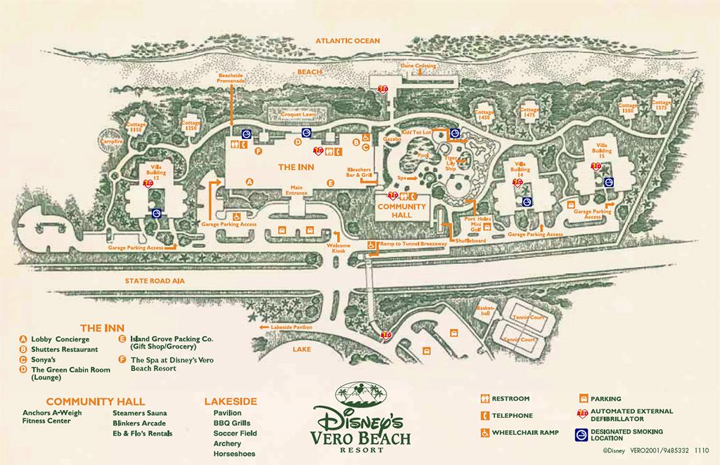 6087fcd28 Disney s Vero Beach Resort Map - Photo 1 of 1