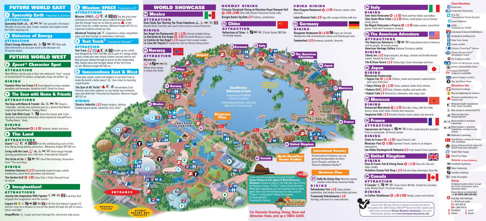 epcot florida map pdf