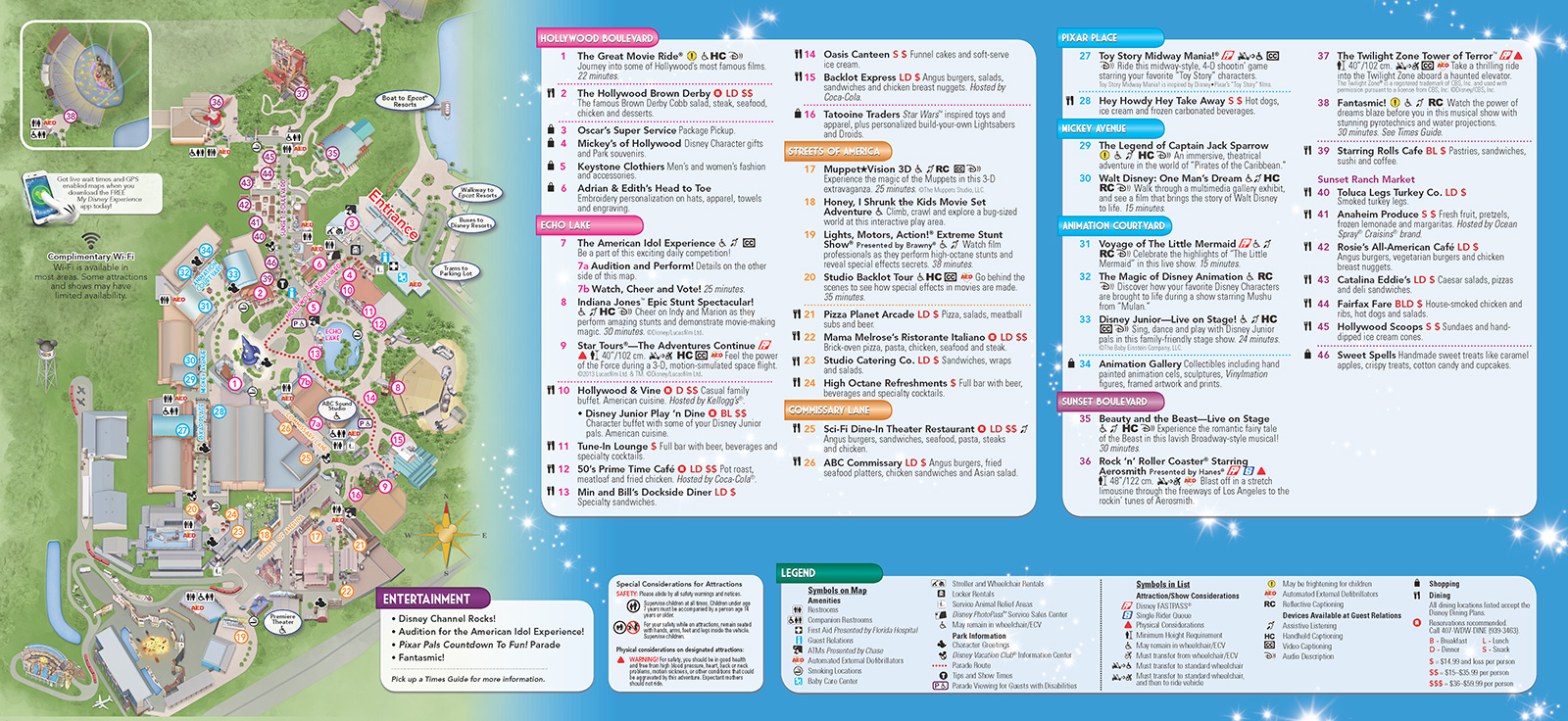 Disney Los Angeles Map.New 2013 Park Maps And Times Guides Photo 4 Of 20