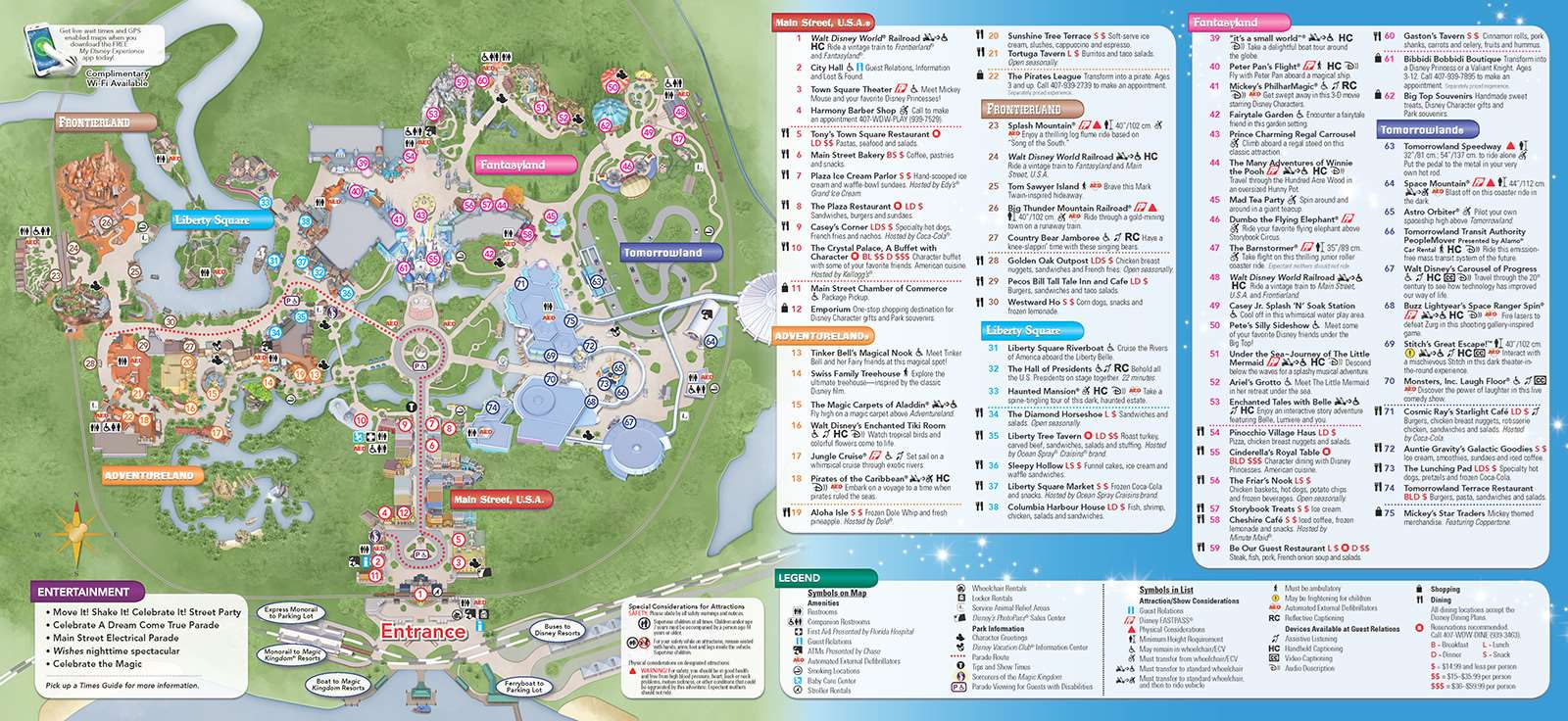 New 2013 Park Maps and Times Guides 2 of 20