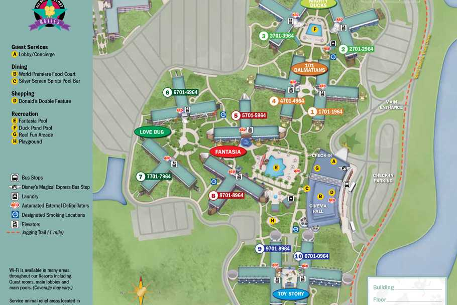 Walt disney world park and resort maps photos new look 2013 resort hotel maps gumiabroncs Image collections
