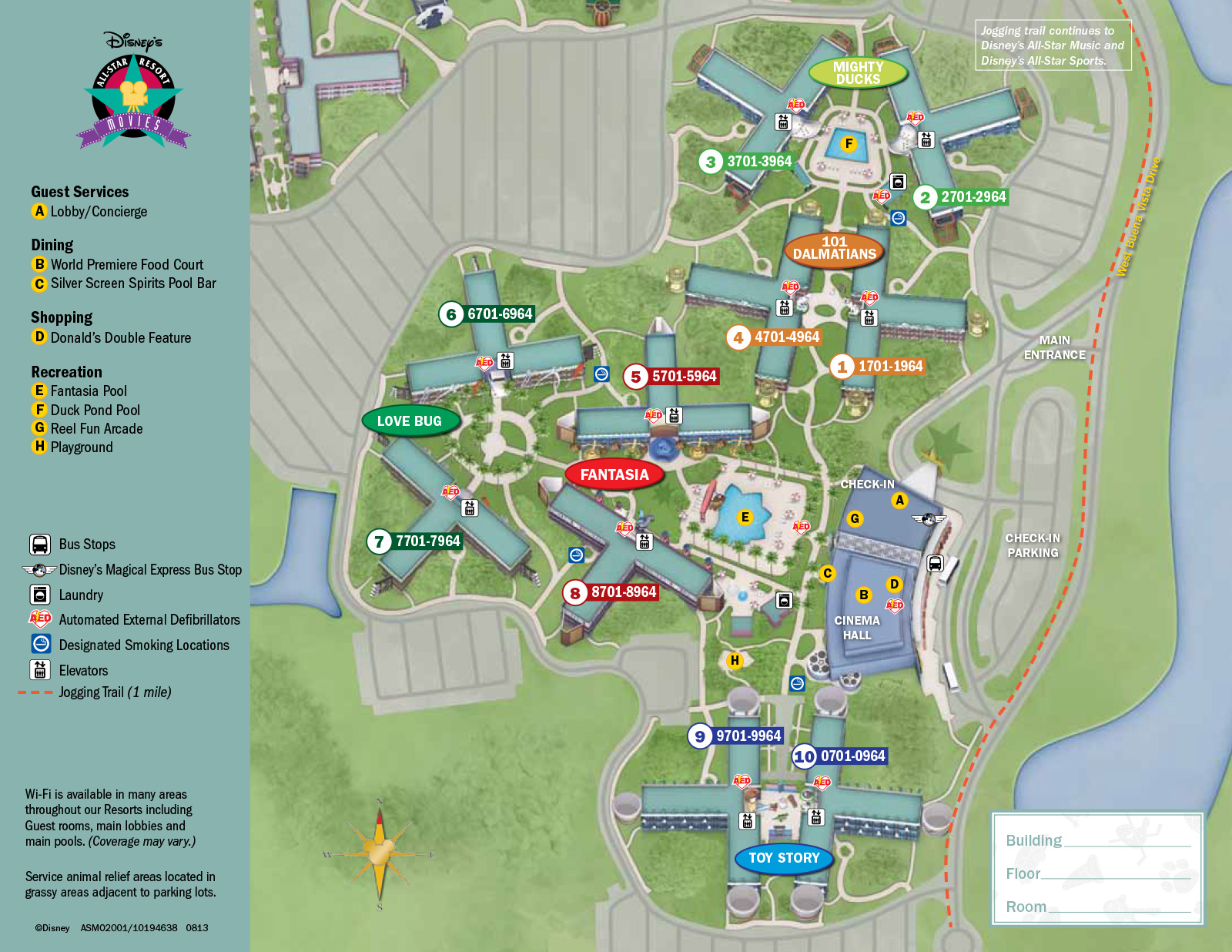 New 2013 All Star Movies Resort map