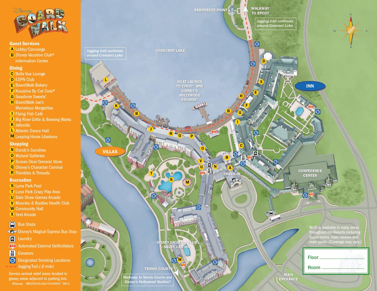 New look 2013 Resort Hotel maps