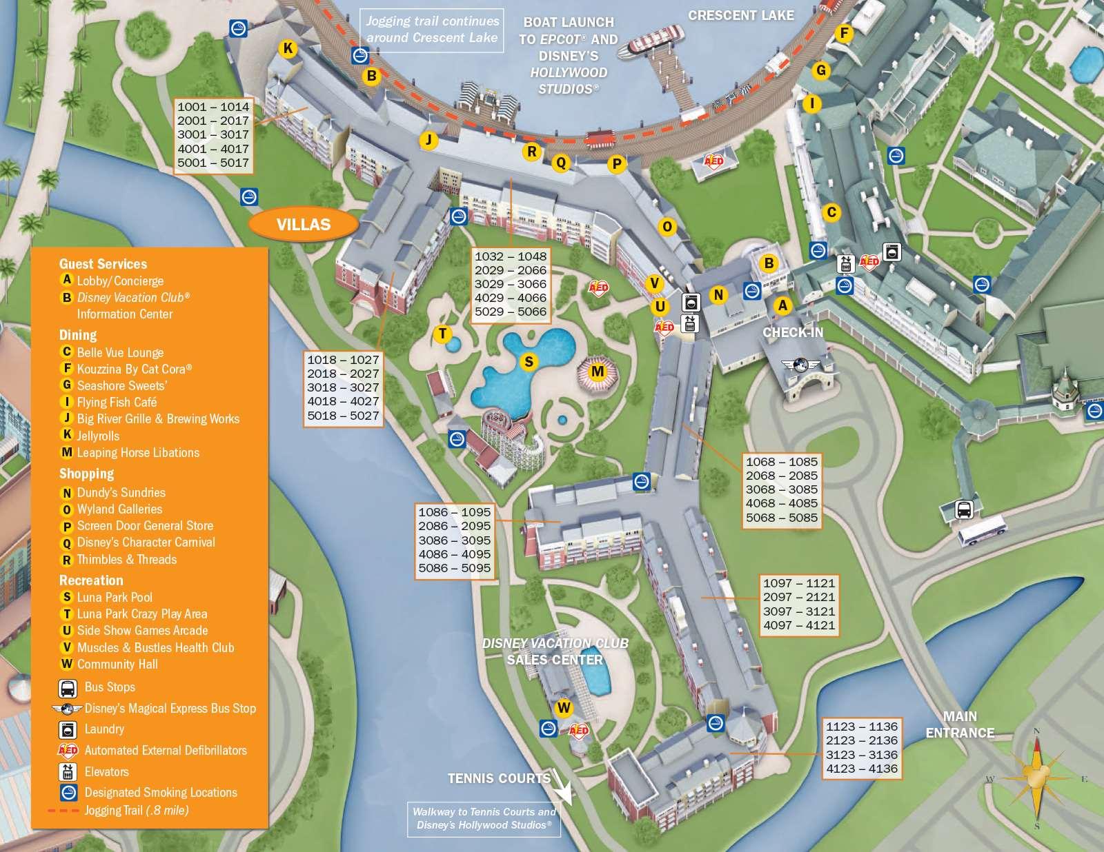 Beach club resort map disney