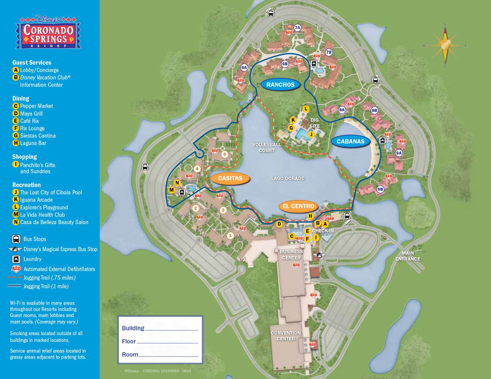PHOTOS - New design of maps now at Walt Disney World resort hotels on