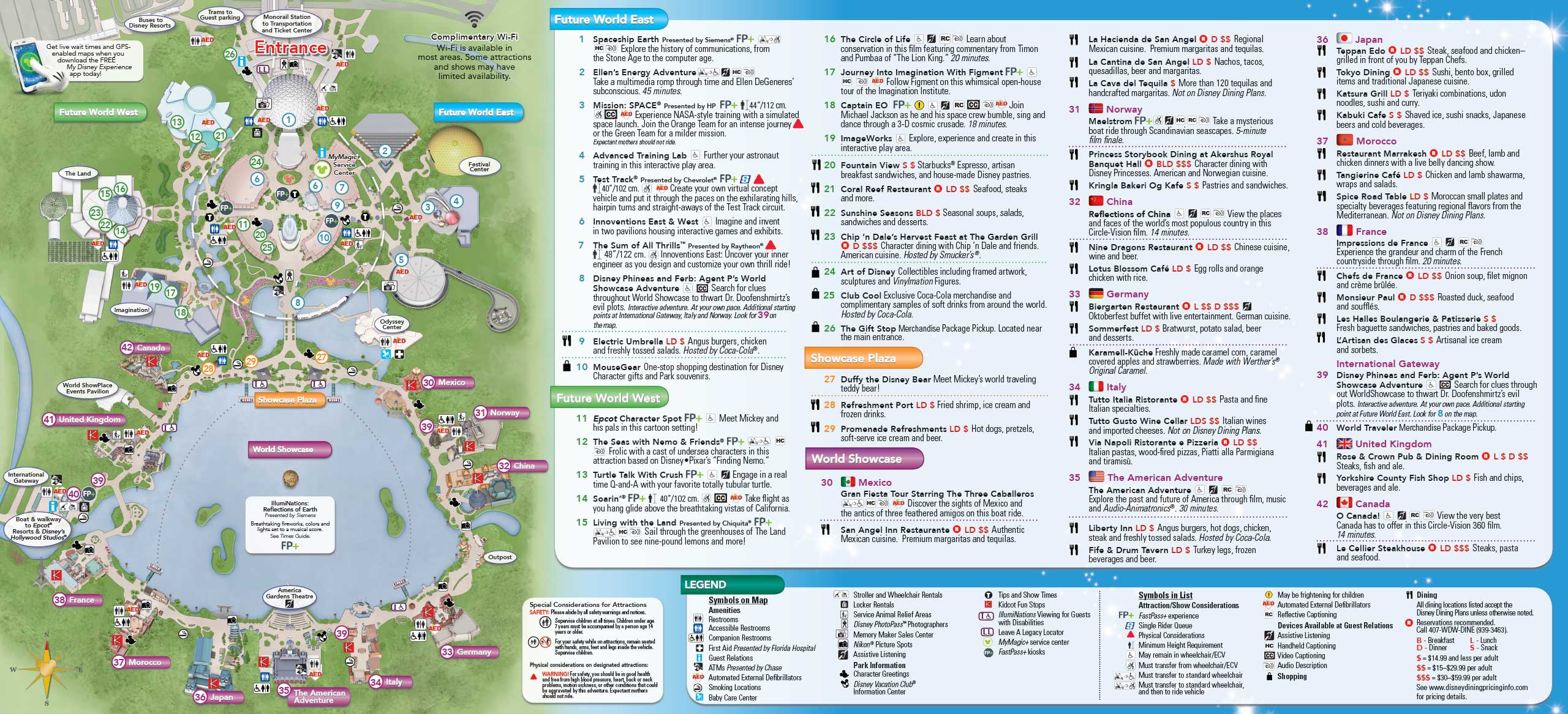 picture about Printable Epcot Map known as 2014 Walt Disney Worldwide Park Maps with FastP+ - Image 4 of 8