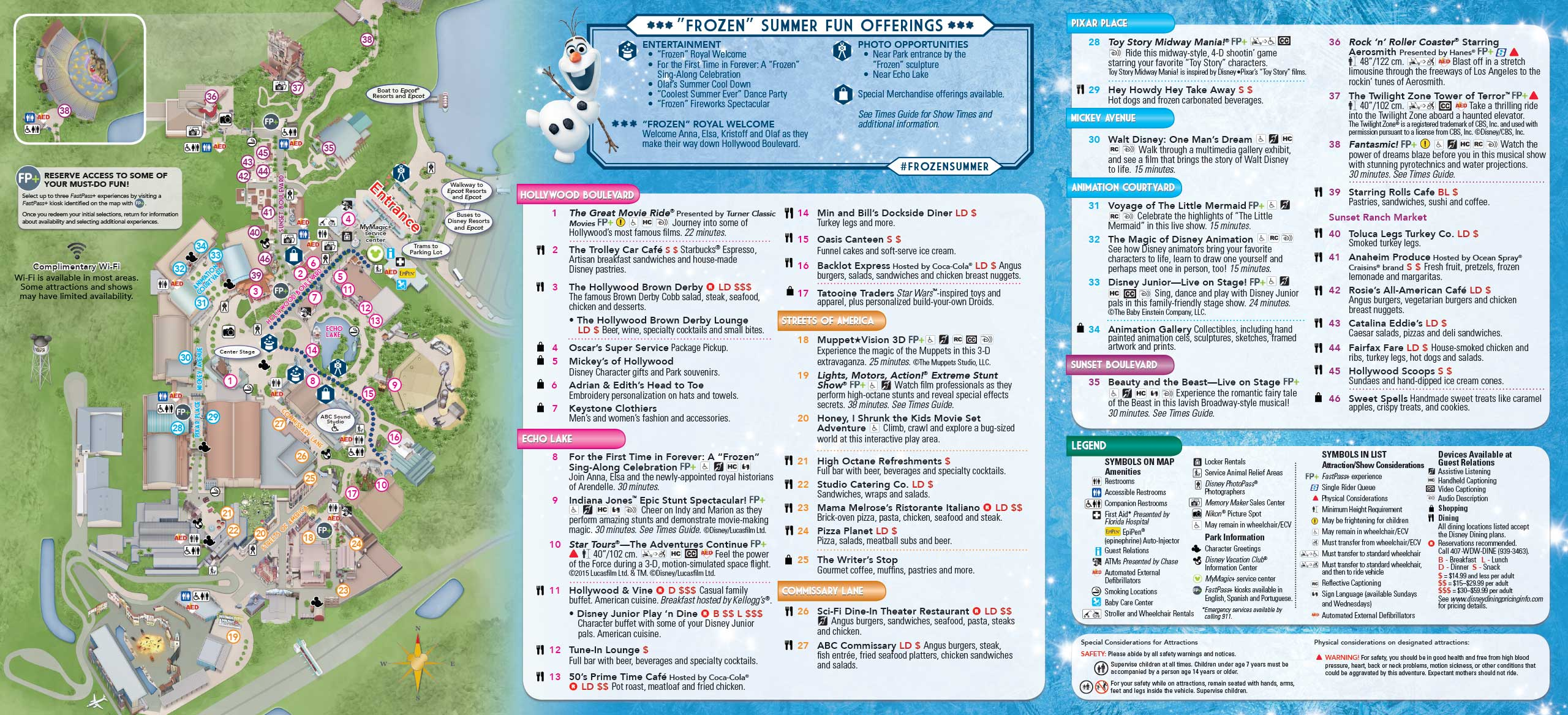Disney Los Angeles Map.May 2015 Walt Disney World Resort Park Maps Photo 4 Of 14