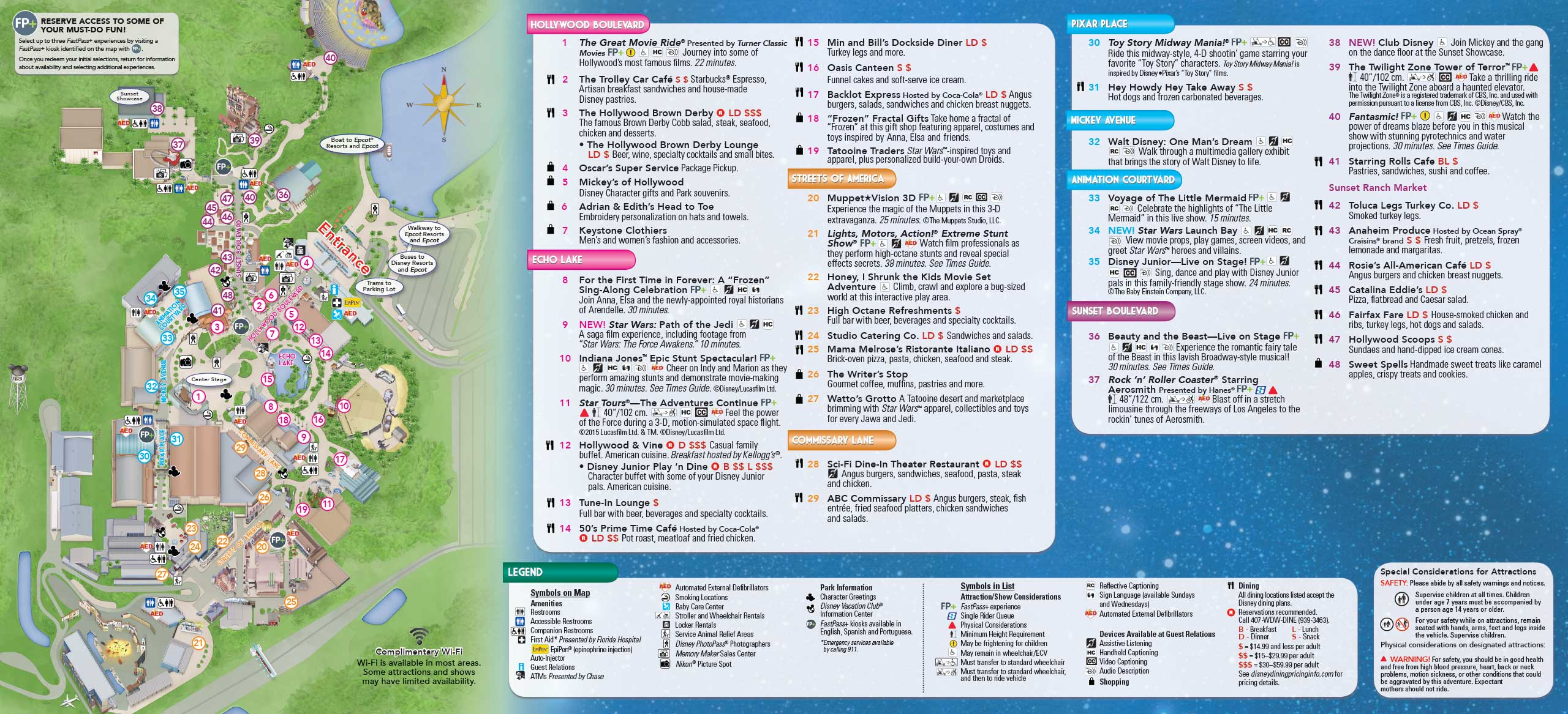 January 2016 Walt Disney World Park Maps - Photo 1 of 12