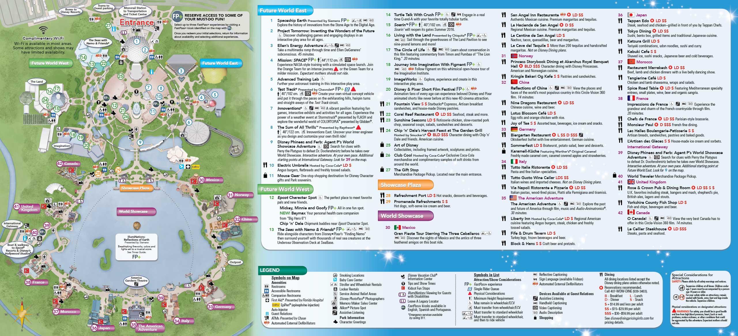 January 2016 Walt Disney World Park Maps - Photo 6 of 12