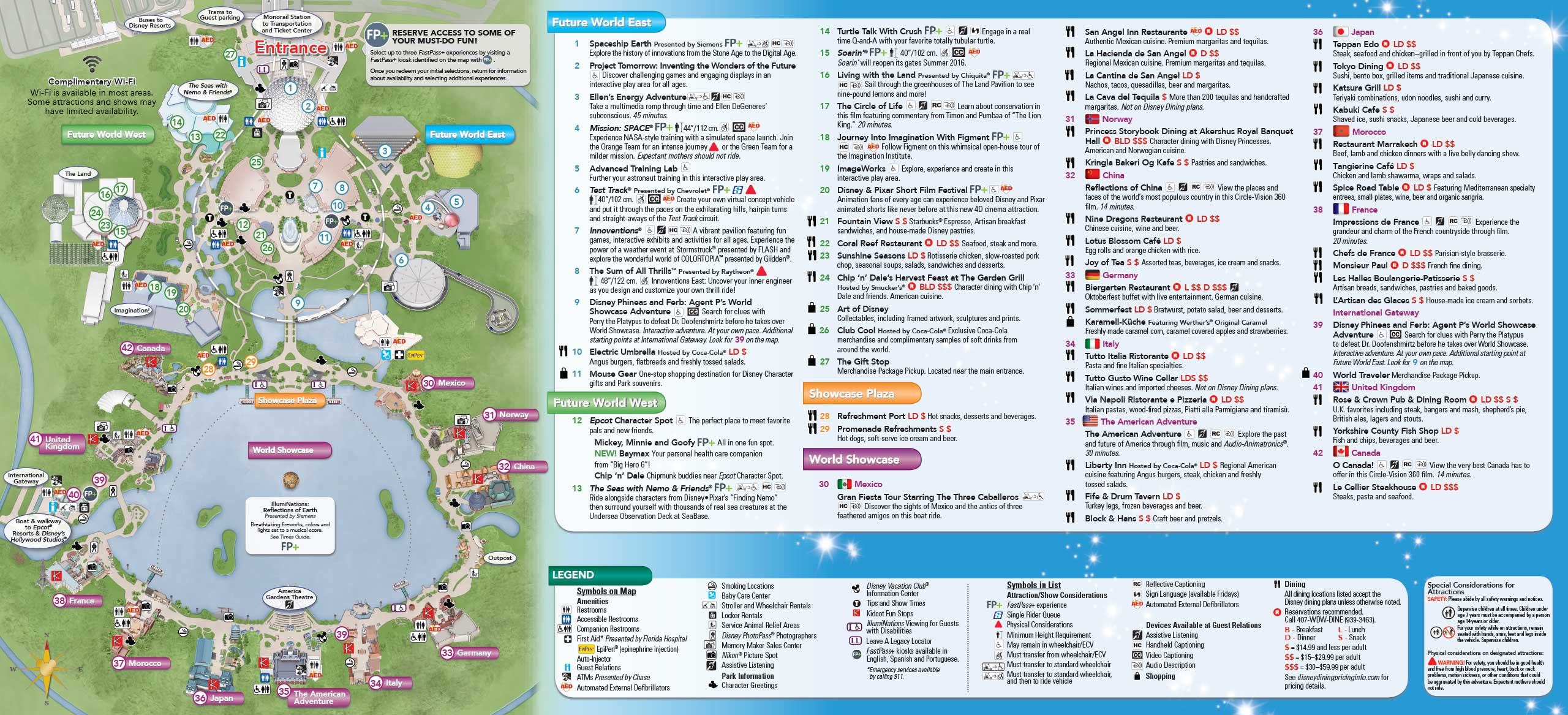Delightful January 2016 Walt Disney World Park Maps