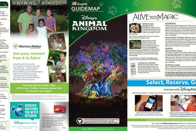 May 2016 Walt Disney World Park Maps