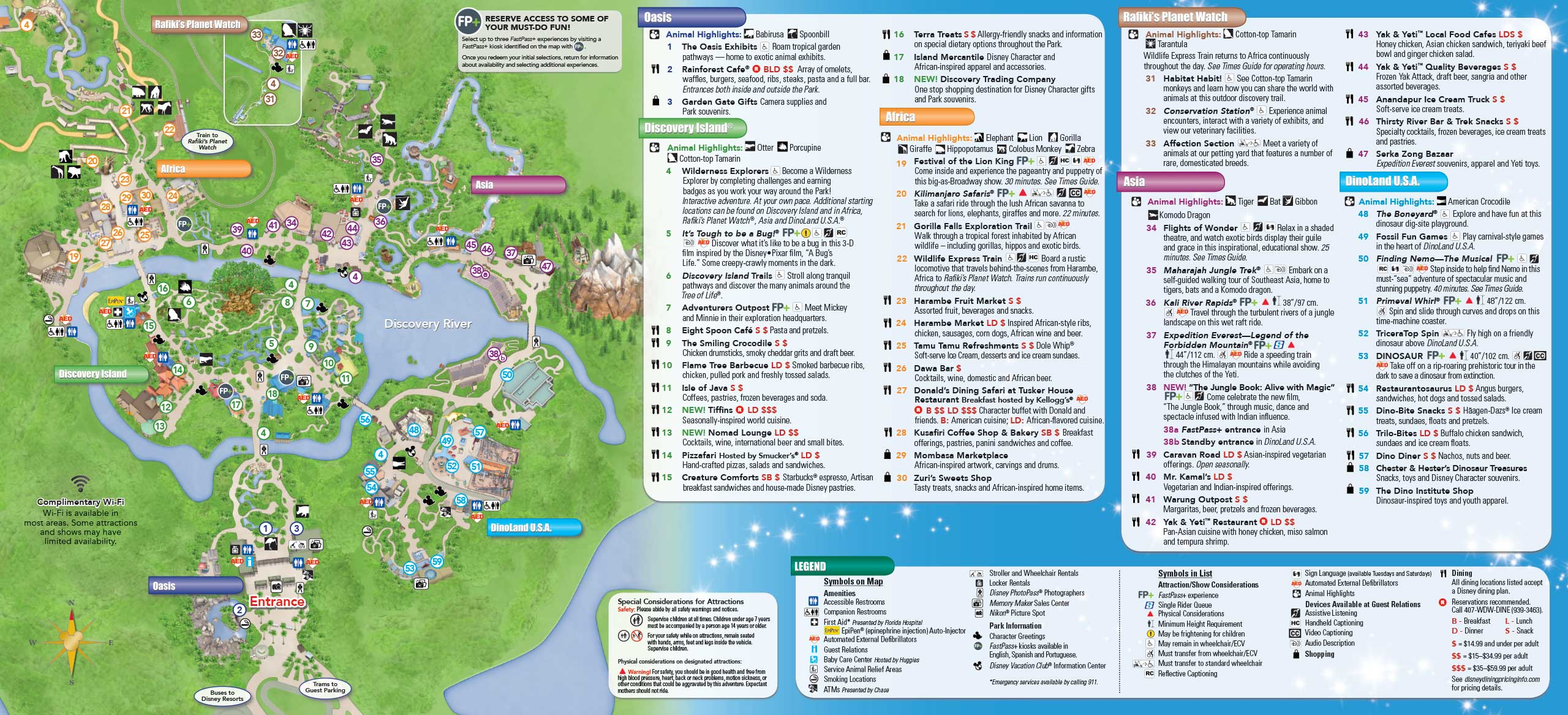 Attractive May 2016 Walt Disney World Park Maps