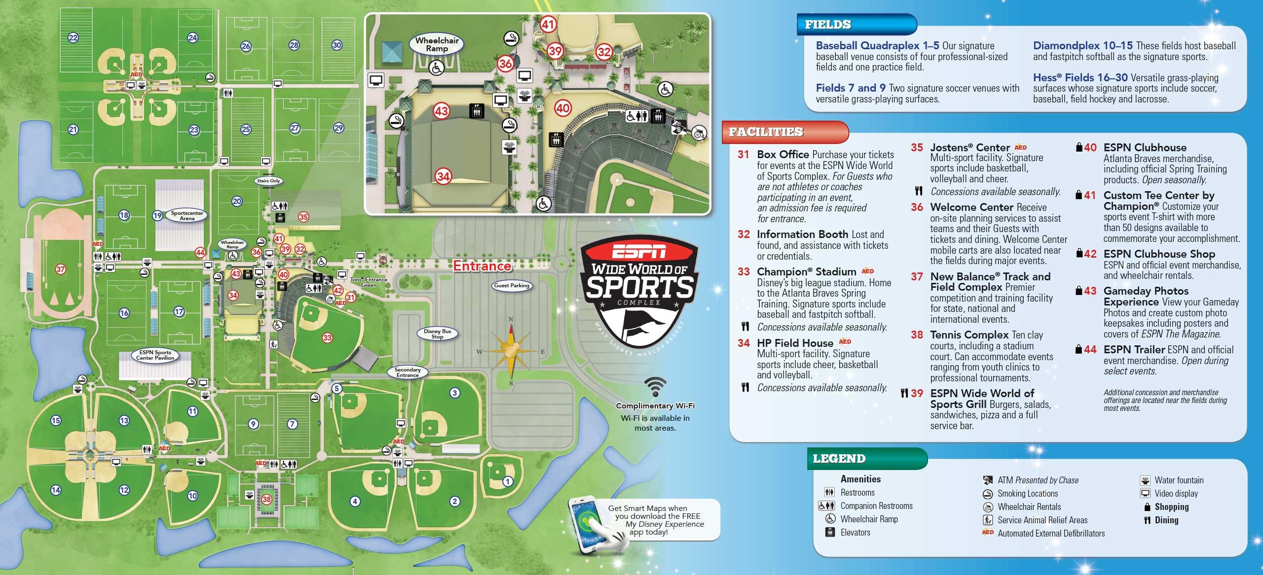 Espn Wide World Of Sports Map May 2016 Walt Disney World Park Maps   Photo 14 of 14 Espn Wide World Of Sports Map