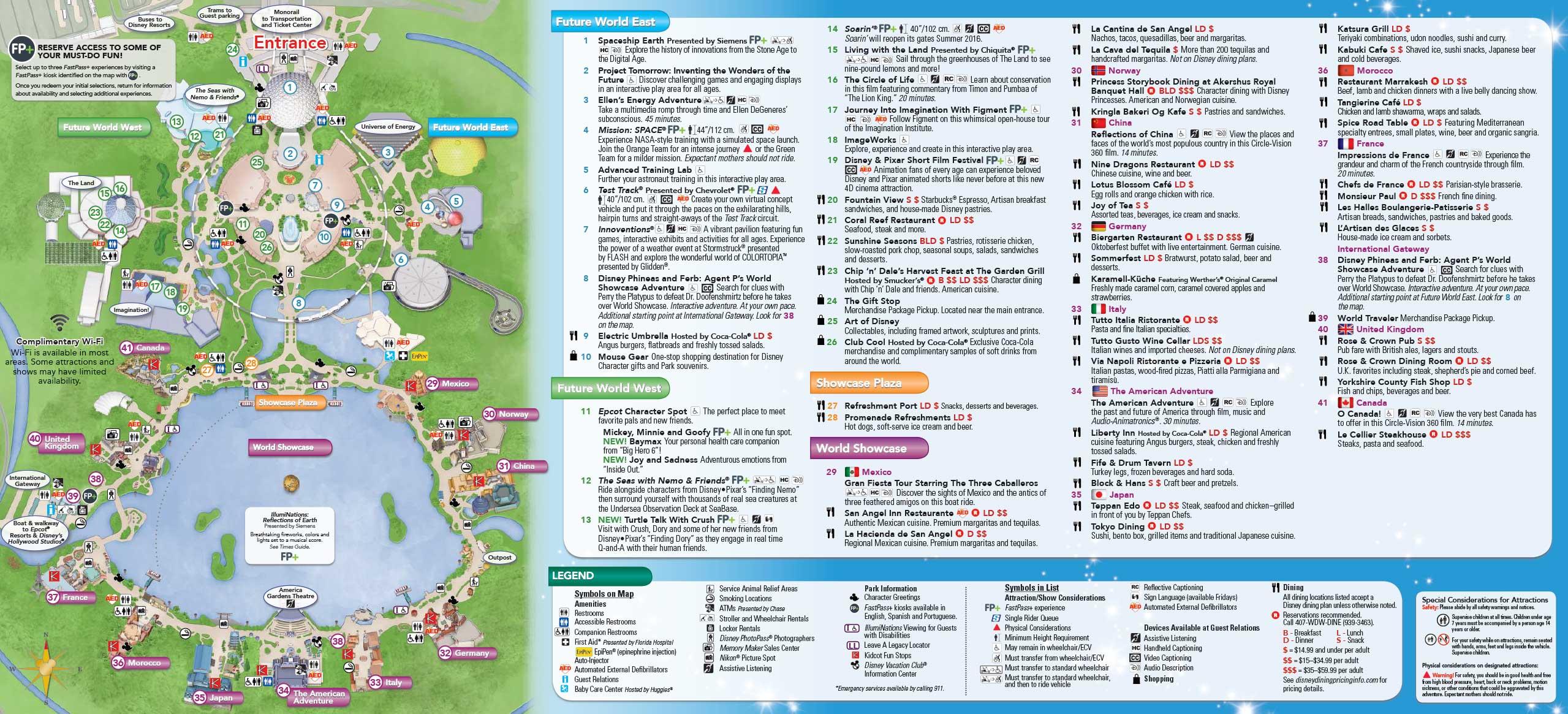 May 2016 Walt Disney World Park Maps