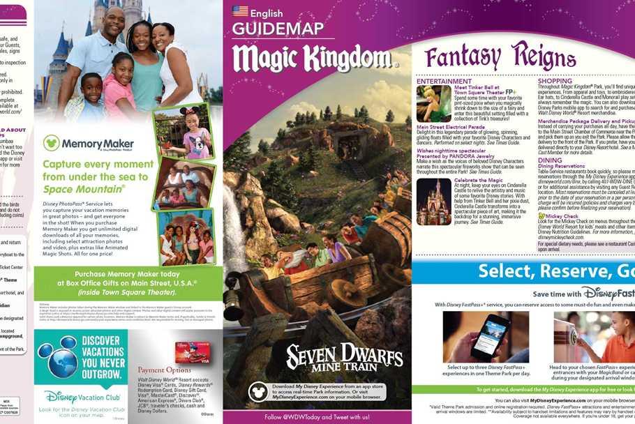 Disney World Map 2016 Pdf.Walt Disney World Park And Resort Maps Photos