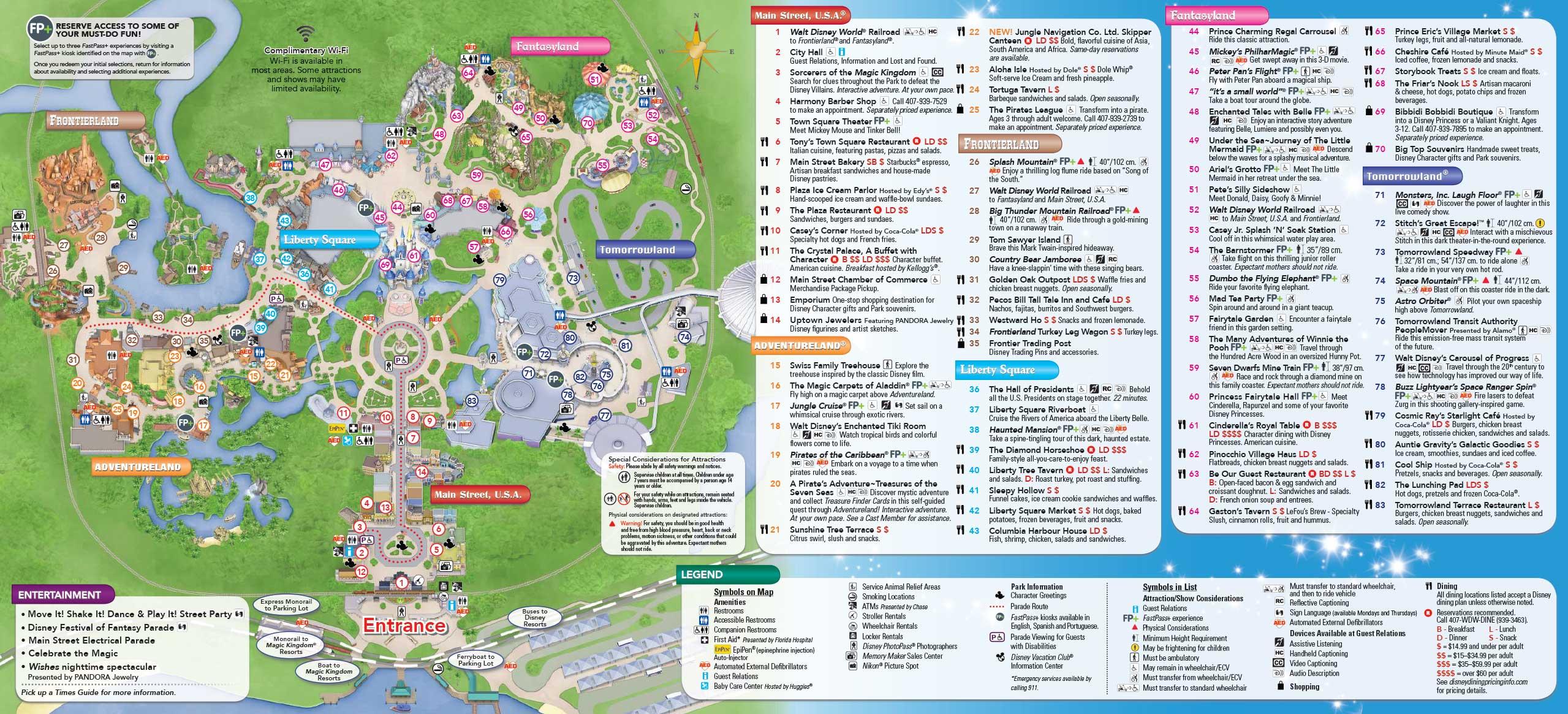June 2016 Walt Disney World Park Maps - Photo 2 of 4