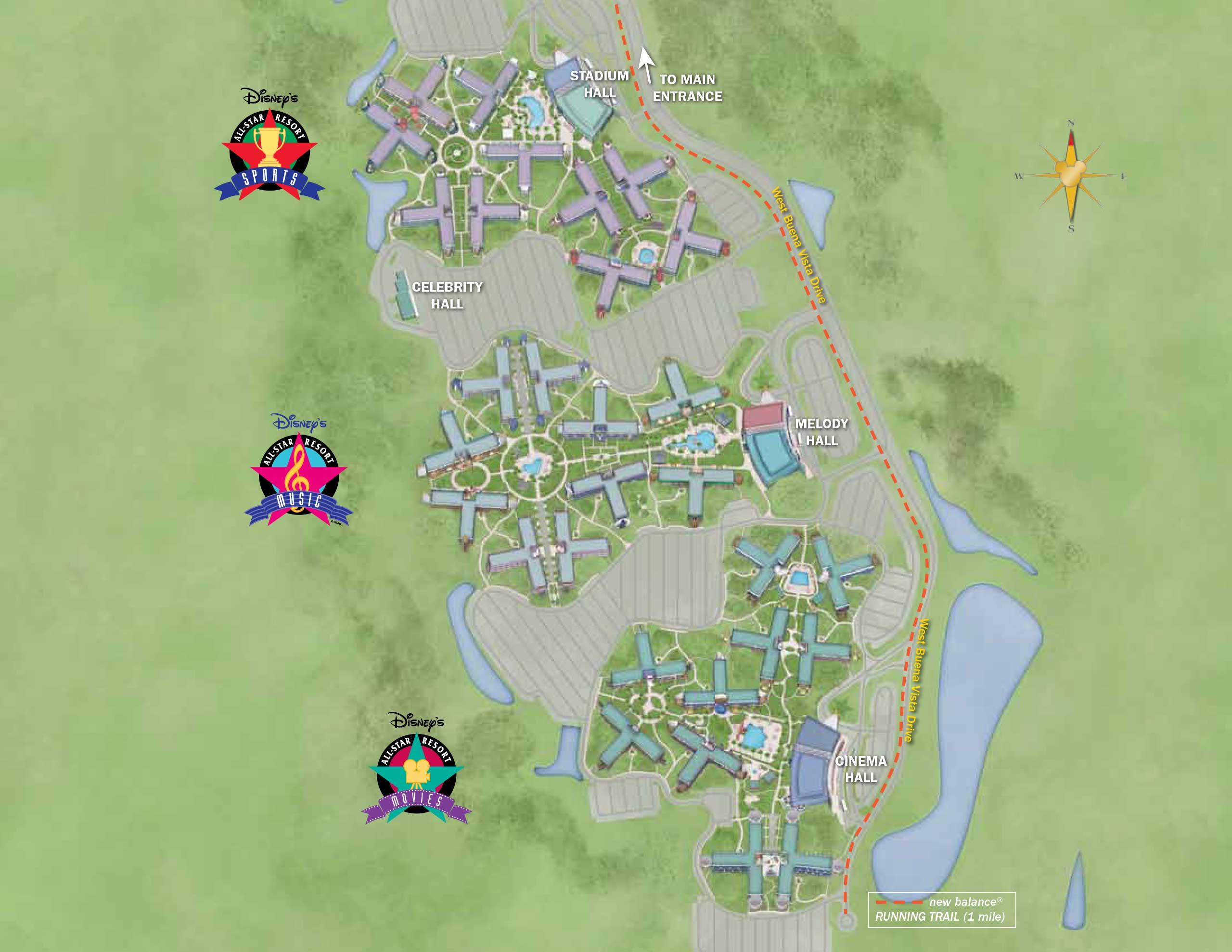 Walt Disney World Map With Hotels.April 2017 Walt Disney World Resort Hotel Maps Photo 1 Of 33