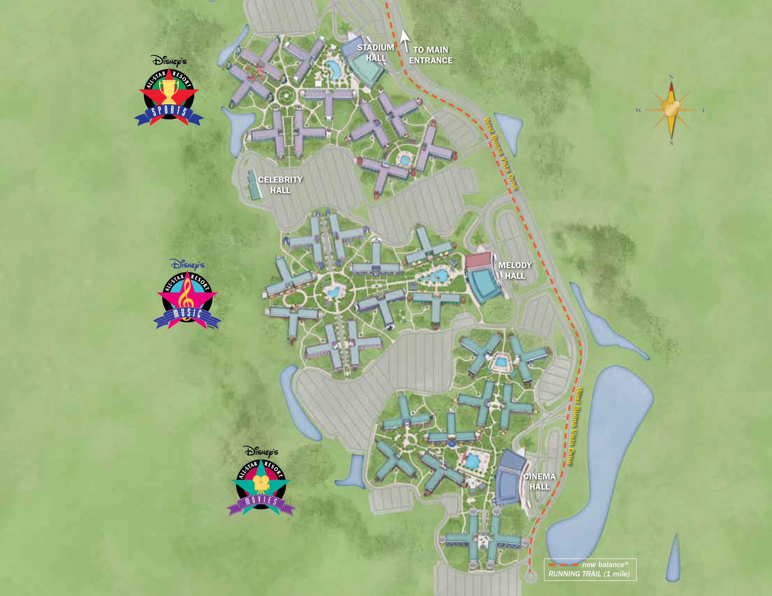 April 2017 Walt Disney World Resort Hotel Maps