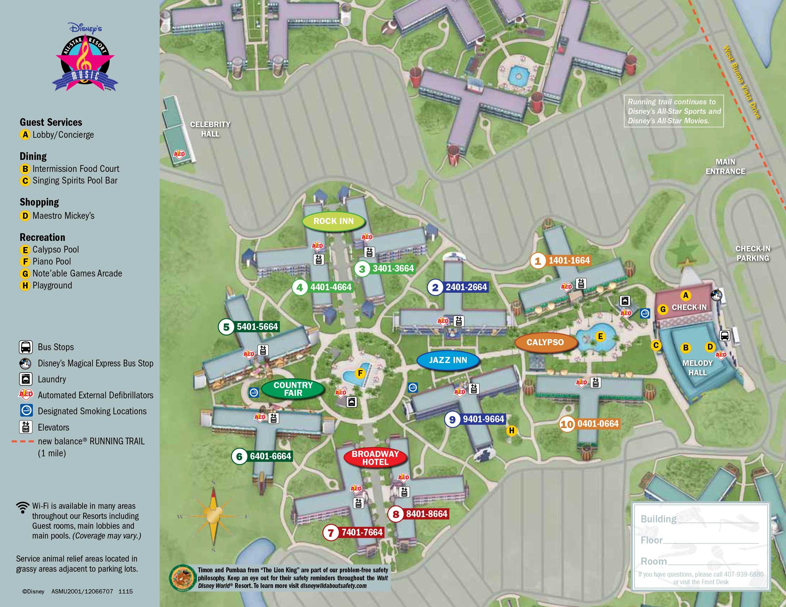 All Star Movies Resort Map - Design Templates
