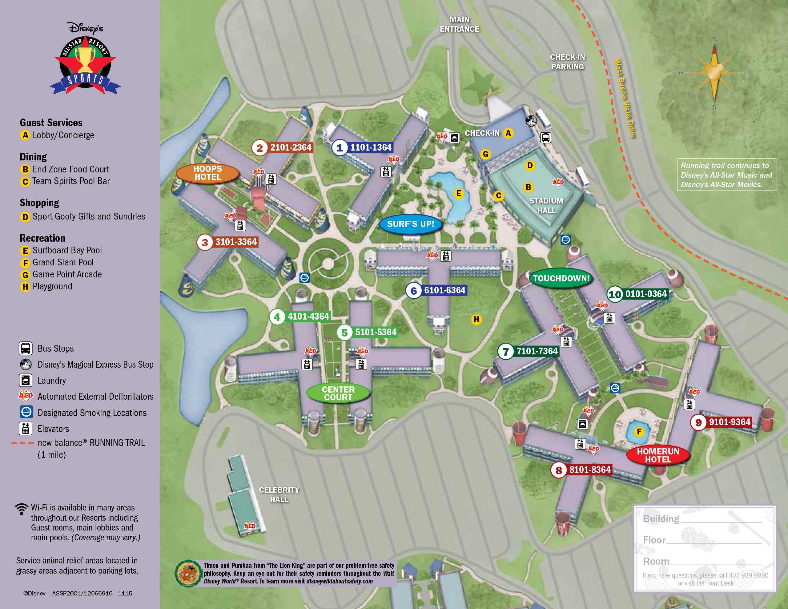 April 2017 Walt Disney World Resort Hotel Maps - Photo 4 of 33