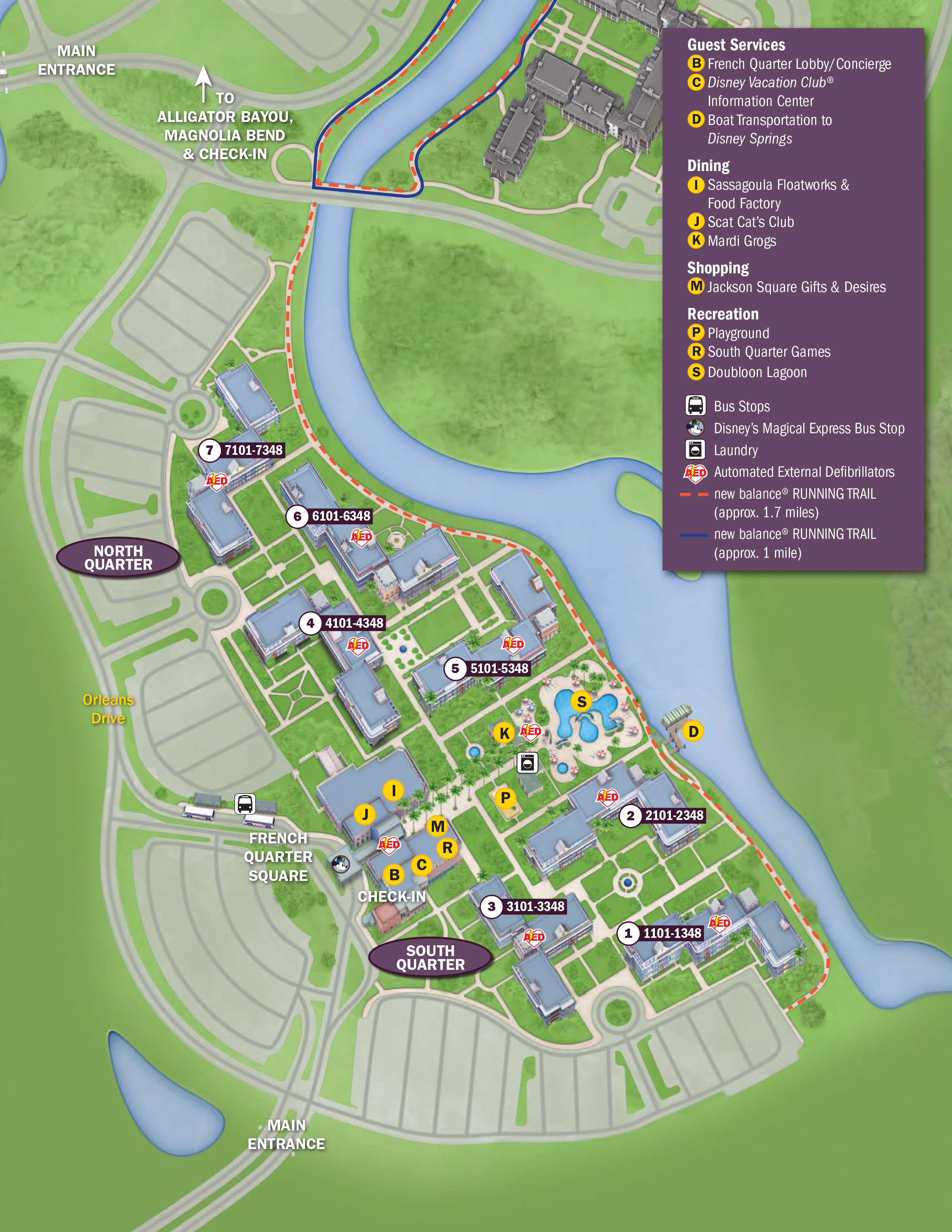 April 2017 Walt Disney World Resort Hotel Maps Photo 10 of 33