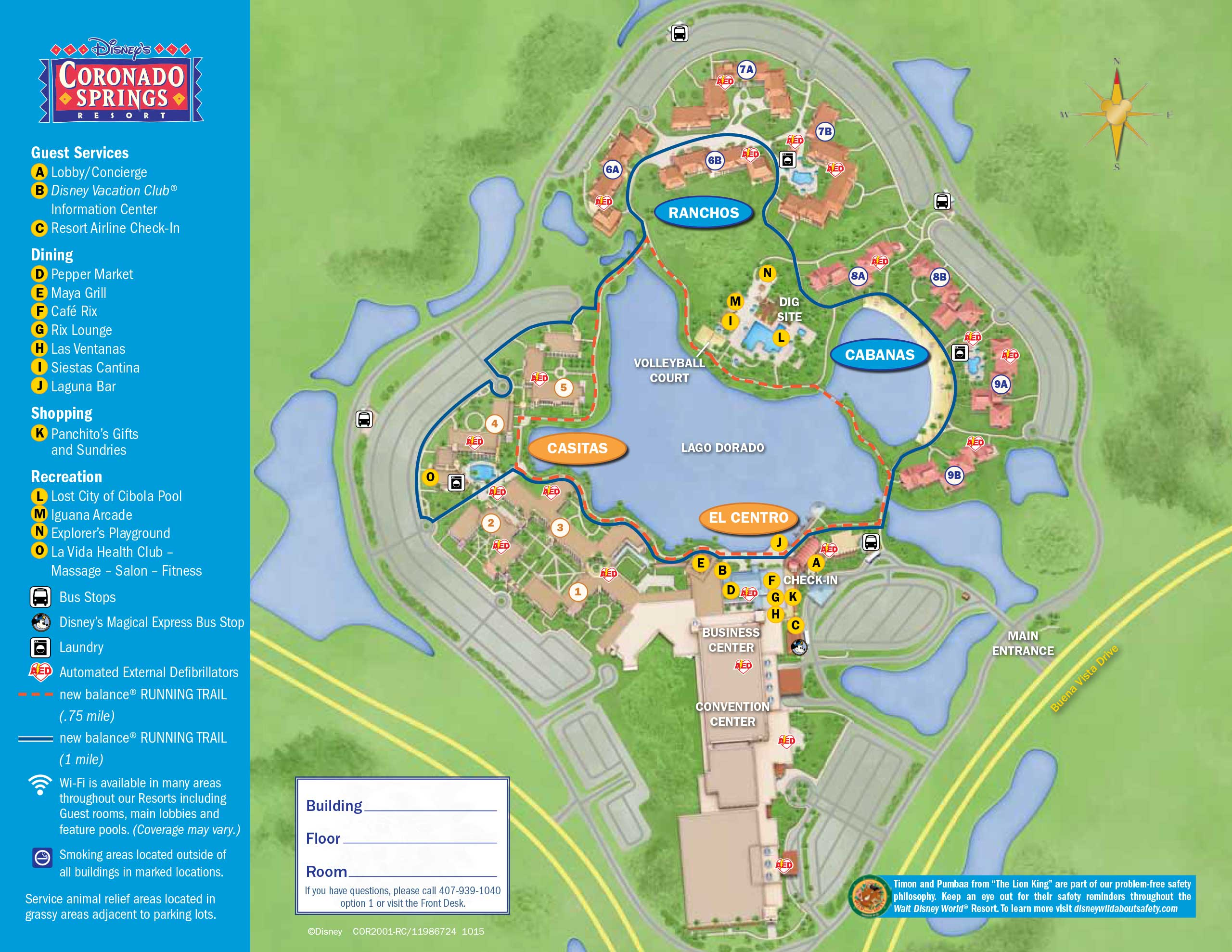 April 2017 Walt Disney World Resort Hotel Maps - Photo 11 of 33