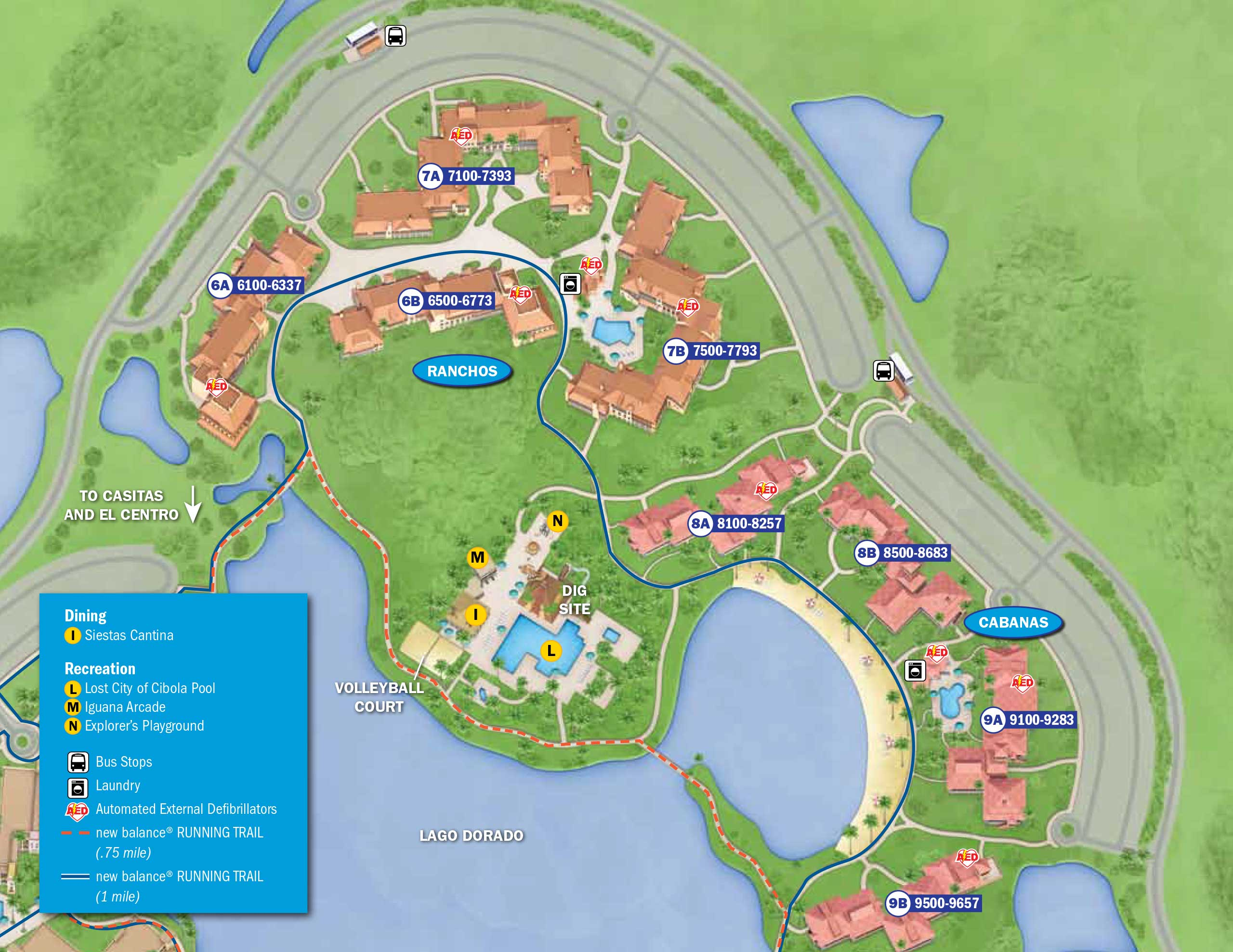 Coronado Springs Map April 2017 Walt Disney World Resort Hotel Maps   Photo 12 of 33