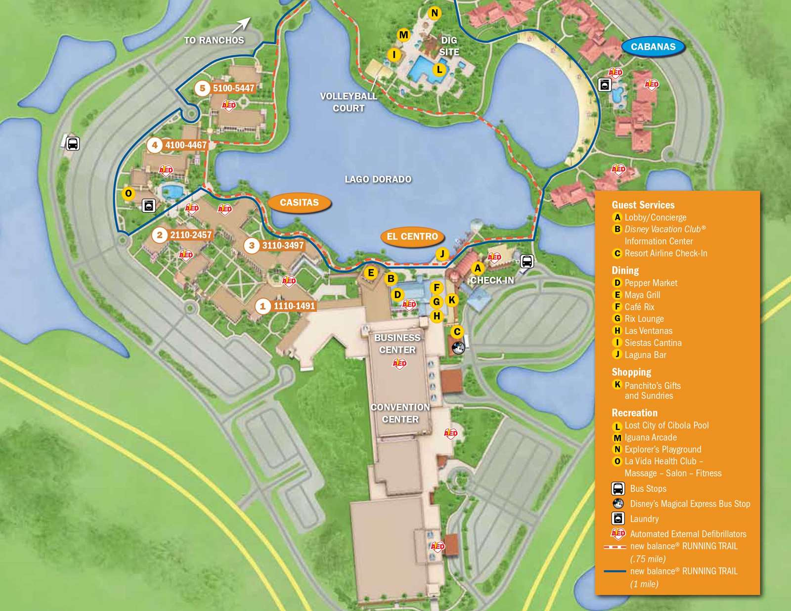 Grand Floridian Map April 2017 Walt Disney World Resort Hotel Maps   Photo 25 of 33