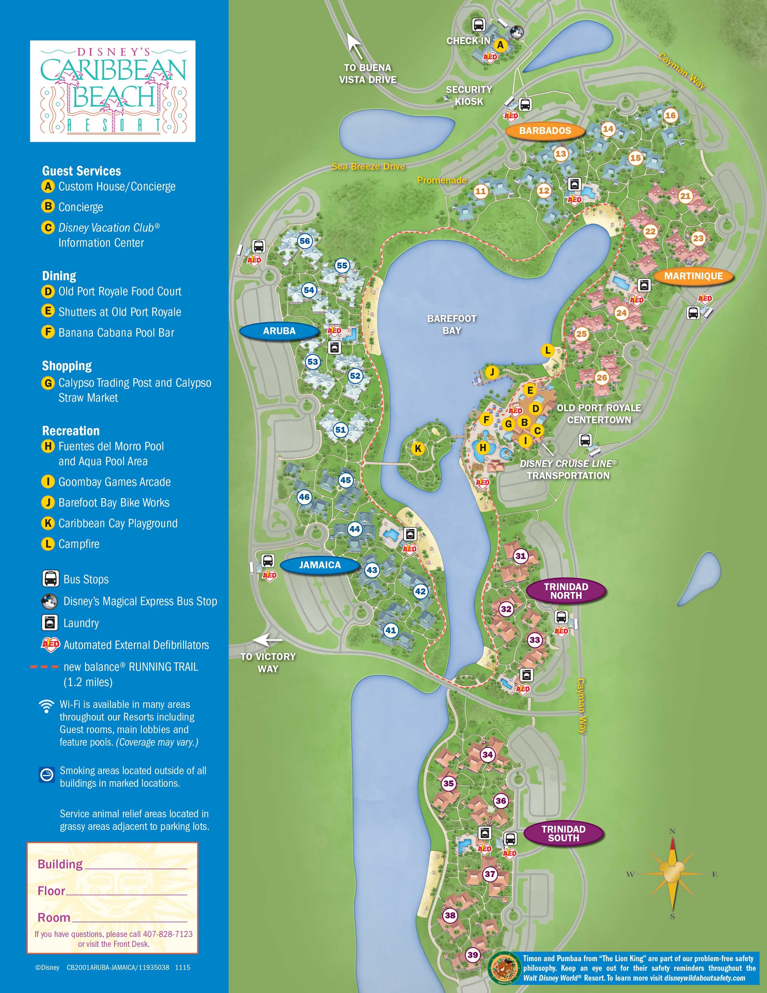 April 2017 Walt Disney World Resort Hotel Maps