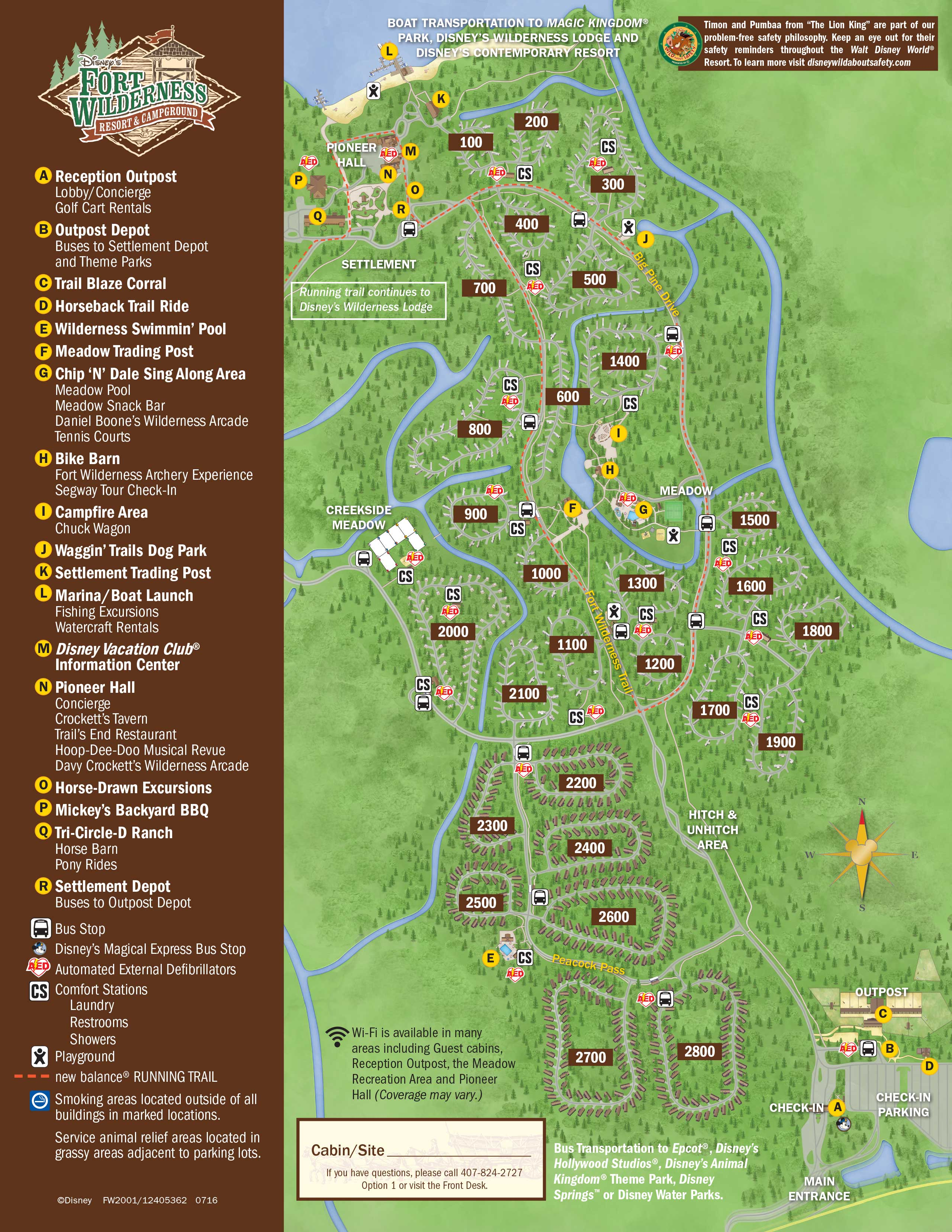 Disney Fort Wilderness Map April 2017 Walt Disney World Resort Hotel Maps   Photo 23 of 33 Disney Fort Wilderness Map