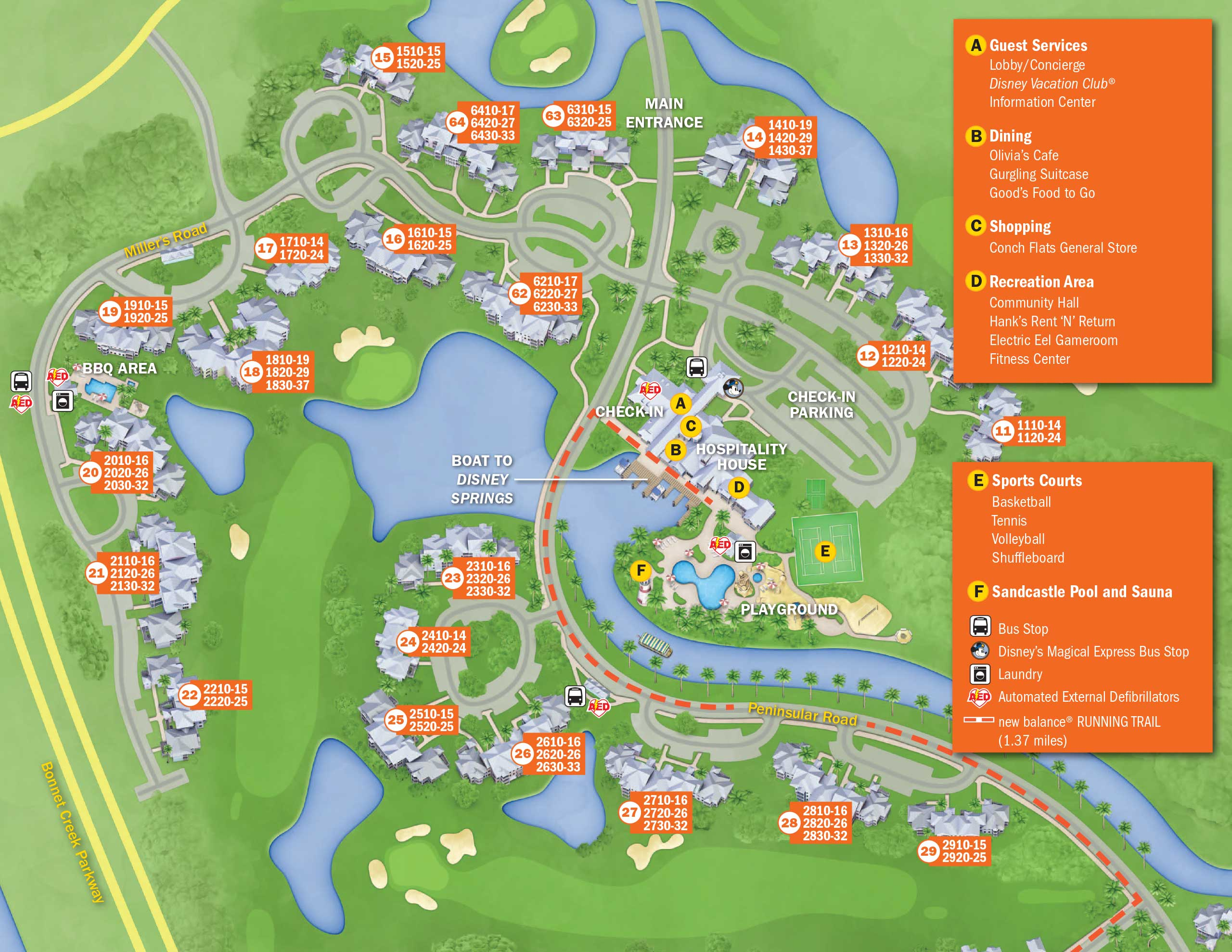 Walt Disney World Resort Map April 2017 Walt Disney World Resort Hotel Maps   Photo 27 of 33