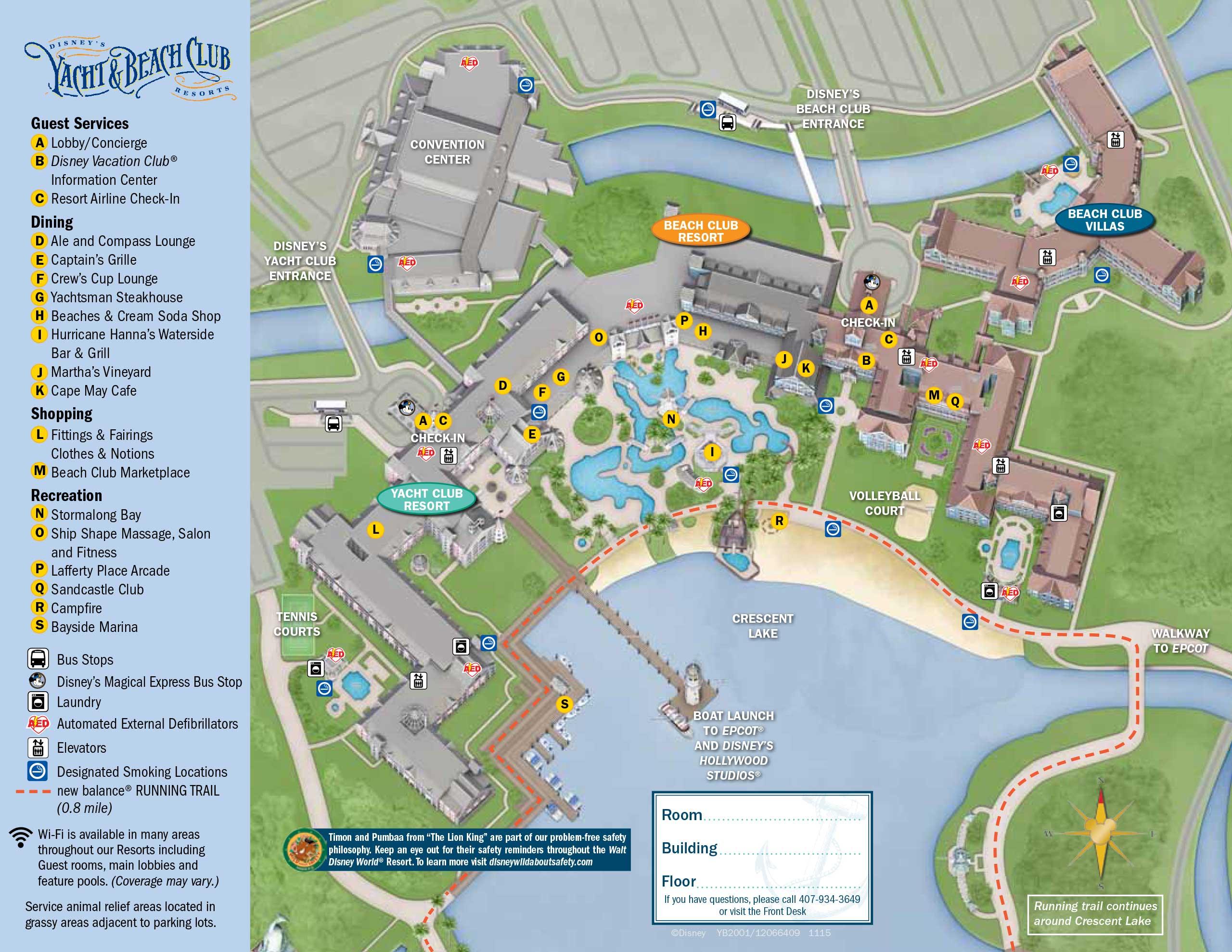 . april  walt disney world resort hotel maps  photo  of