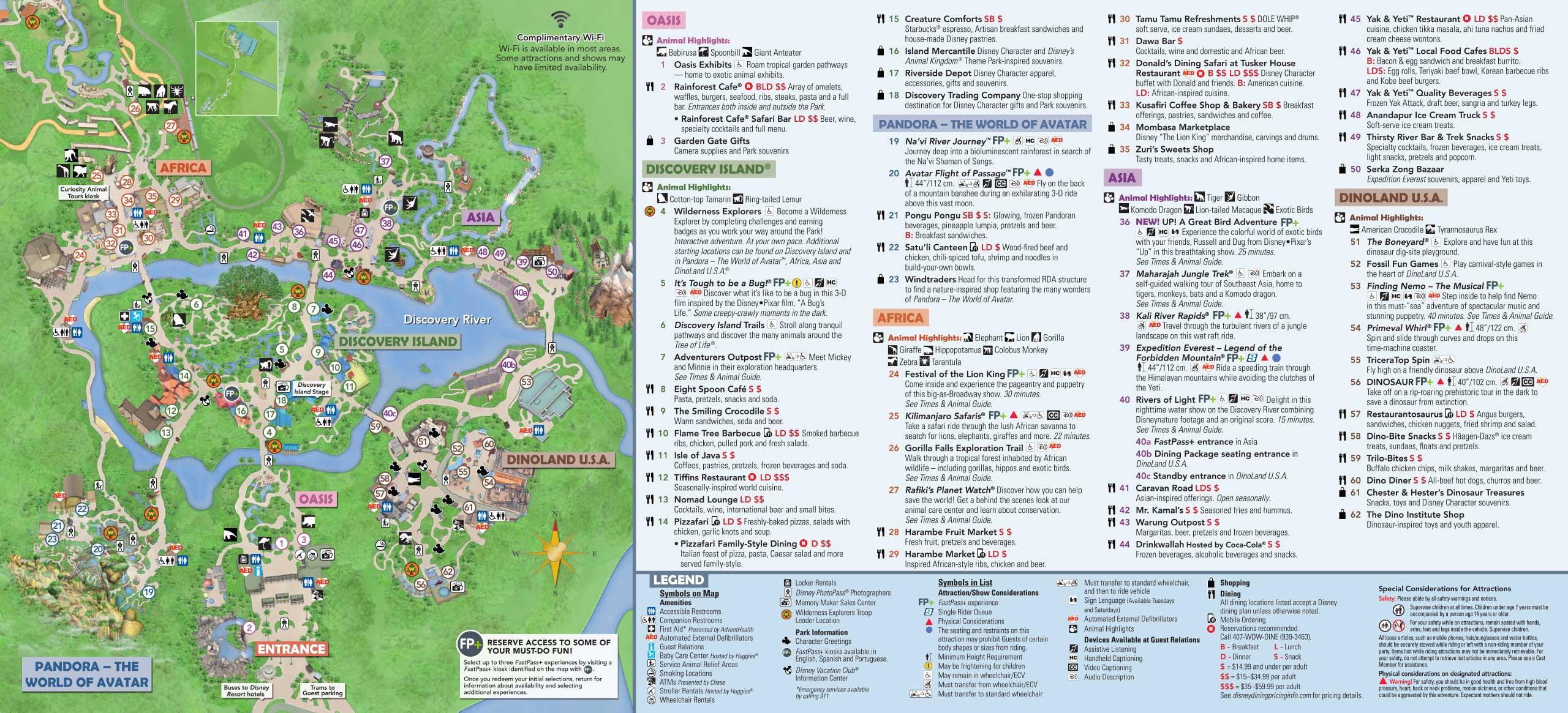 January 2019 Walt Disney World Park Maps - Photo 4 of 14