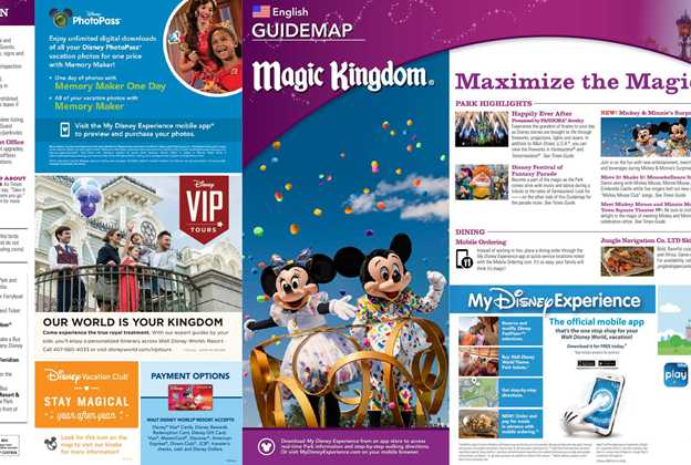 January 2019 Walt Disney World Park Maps