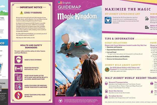 July 2020 Walt Disney World Park Maps