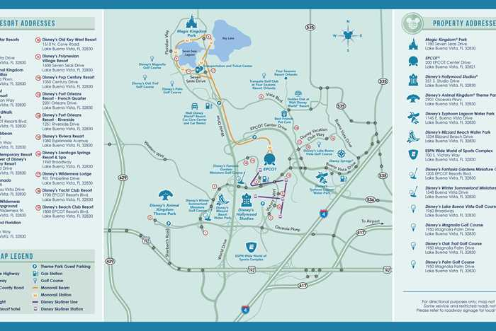 Walt Disney World Property Map September 2020